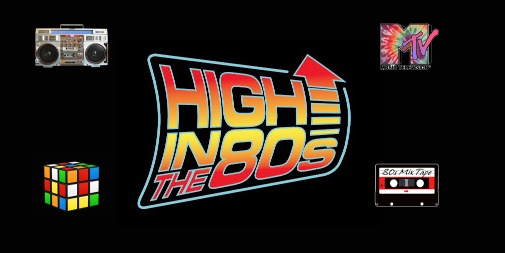 New High In The 80's Band Logo