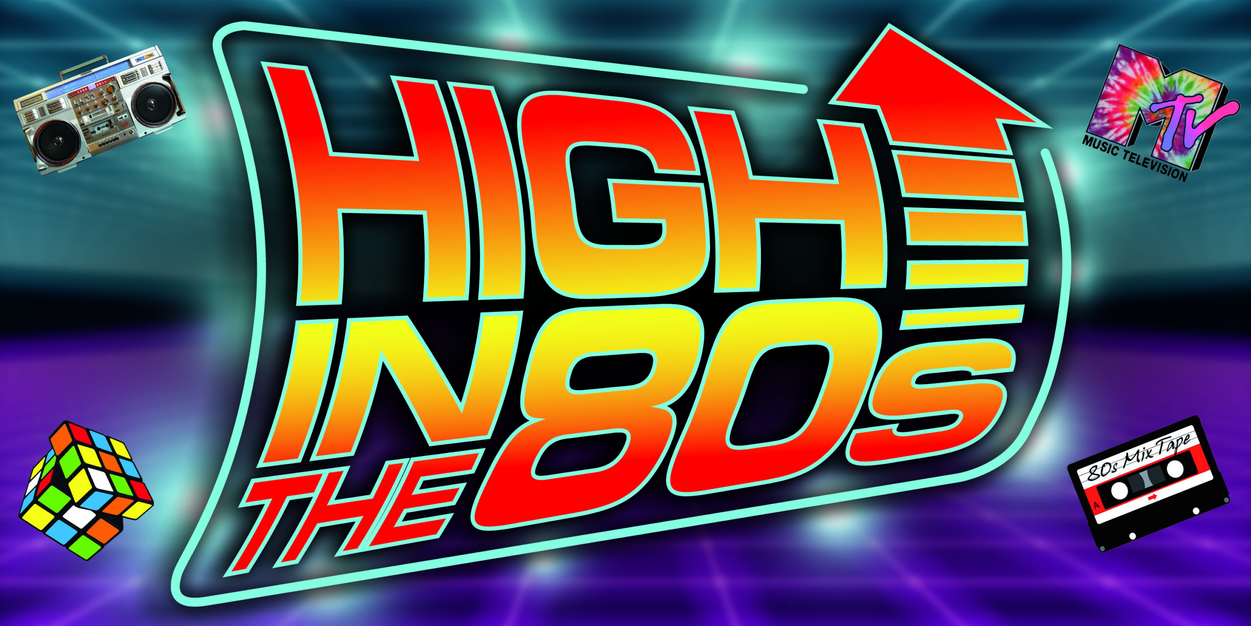 High In the 80s Band Logo